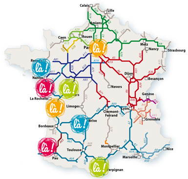 Motorway Map Of France.Olela Will Pay Your Motorway Toll To Make Going On Holiday Easier