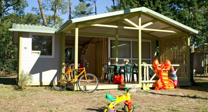 Chalet camping Le Boudigau