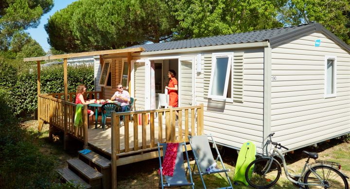 Mobil-home Famille camping Le Boudigau